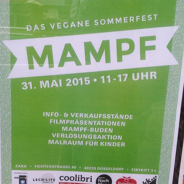 Freu mich schon ein ganz klein wenig auf das MAMPF Festival am Sonntag im ZAKK :-)