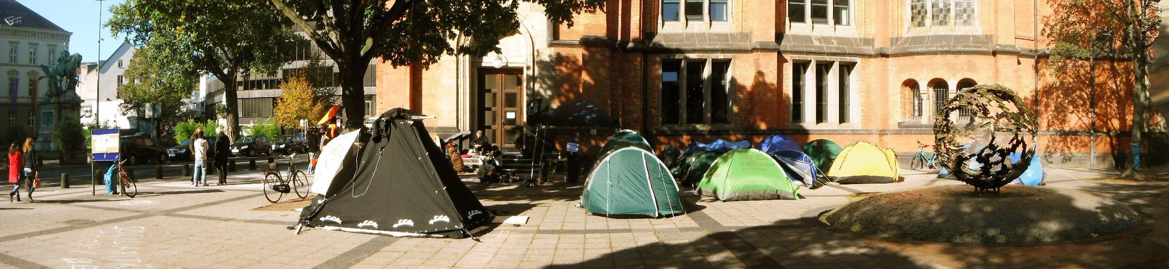 #occupy duesseldorf camp