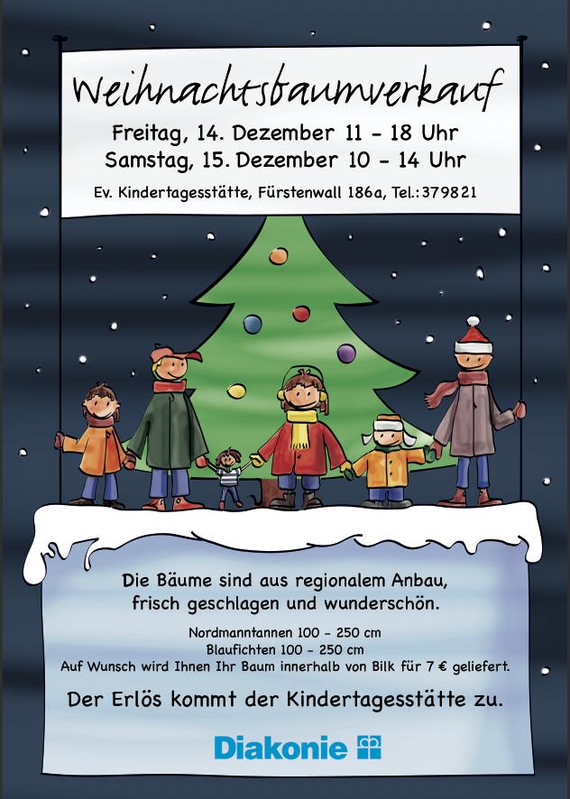 Weihnachtsbaumverkauf auf dem Fürstenwall