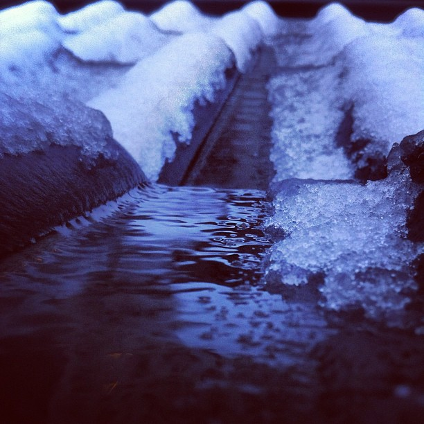 Eiskalte Sache. #winter in der Stadt.