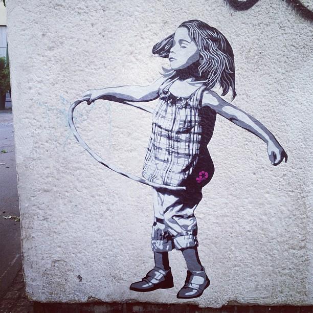 Ach ja und : #streetart am morgen, vertreibt Kummer und sorgen ;-)