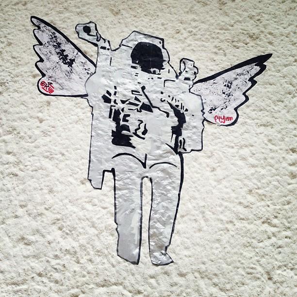 Der Astronauten Engel. #streetart