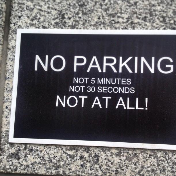 Klare Ansage : hier nicht mehr parken.