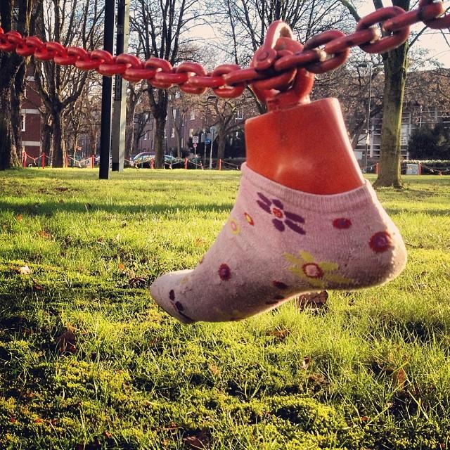 Ausgediente Socken und Strümpfe muss man nicht zwingend wegwerfen ;-)