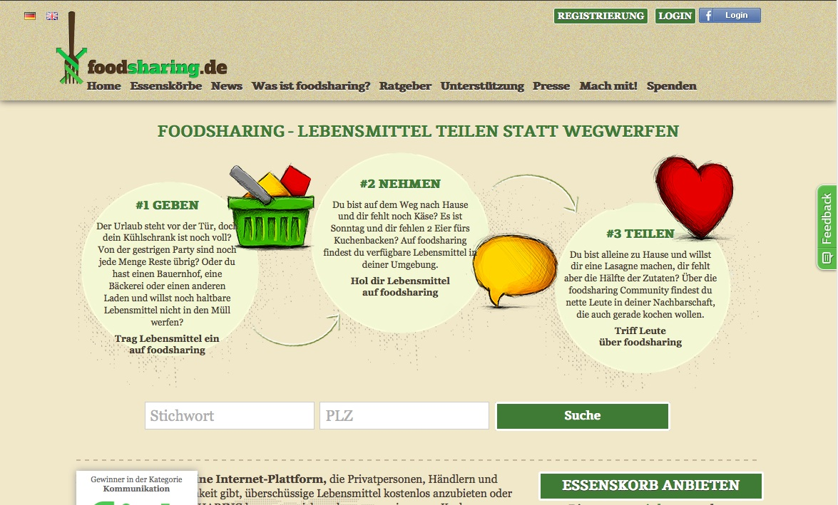 Lebensmittelretter in Düsseldorf