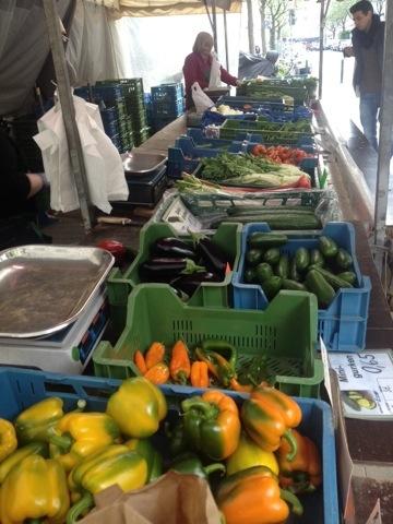 Einkaufen auf'm Bauernmarkt