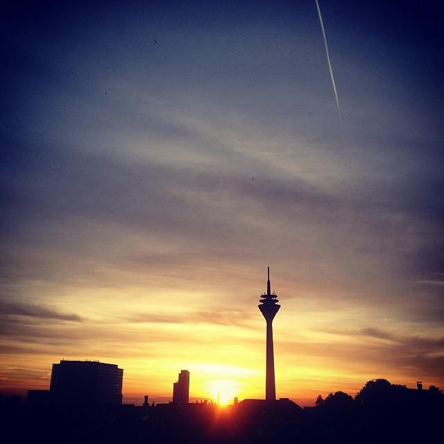 Ein fast schon sommerlicher Sonnenuntergang…
