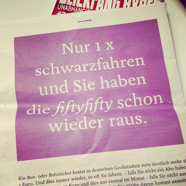 Fifty-fifty macht provozierende Werbung ;-)