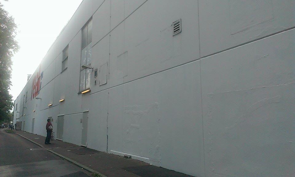 Die 'Graffiti Wall of Fame' bei REAL in Bilk ist weg!
