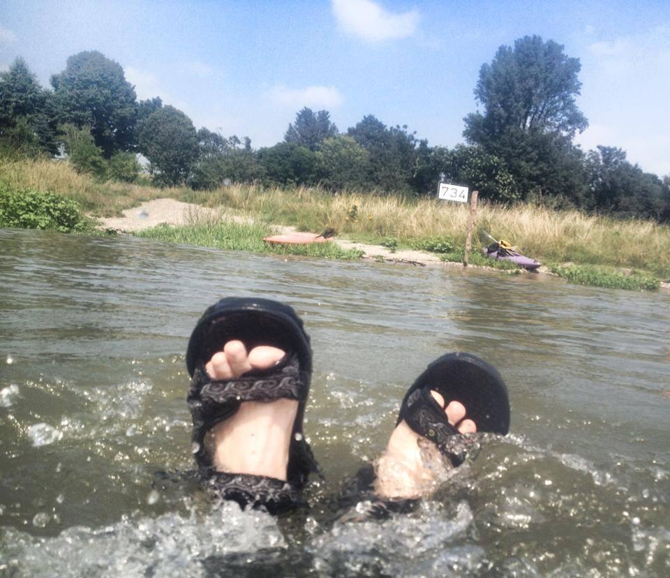Überflutete Uferbereiche und 'zack' – schon ist der Rhein wieder anders…