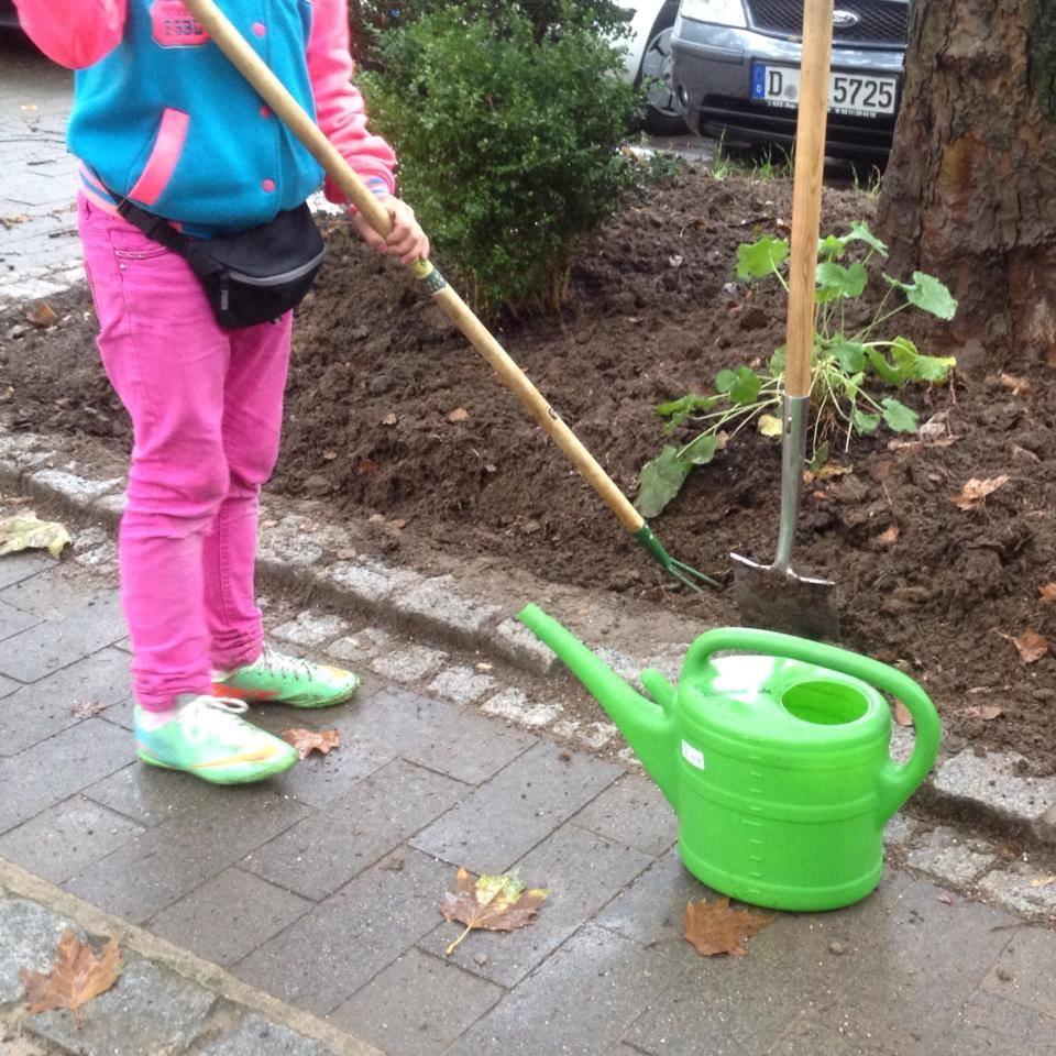 Hilfe beim Unkraut jäten und pflanzen