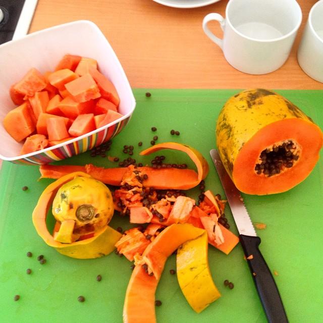 Bon Dia :-) Kleines Küchenmassaker zur Frühstückszeit…