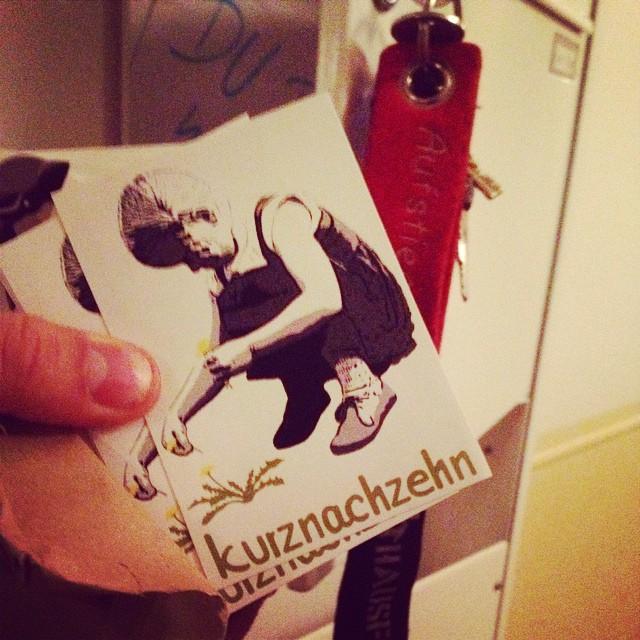Danke an @kurznachzehn für die Sticker :-)