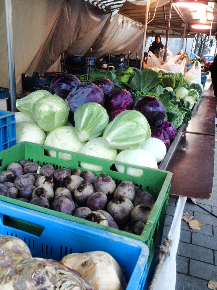 Klönen auf dem Bauernmarkt