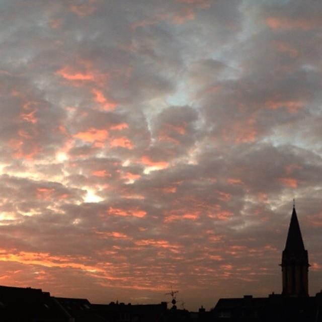 Aufstehen und einfach mal Sonnenaufgang mit dem Kaffee in der Hand anglotzen... toll :-)