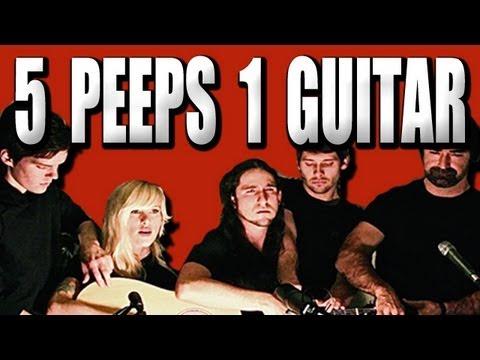 Eine Gitarre und 10 Hände