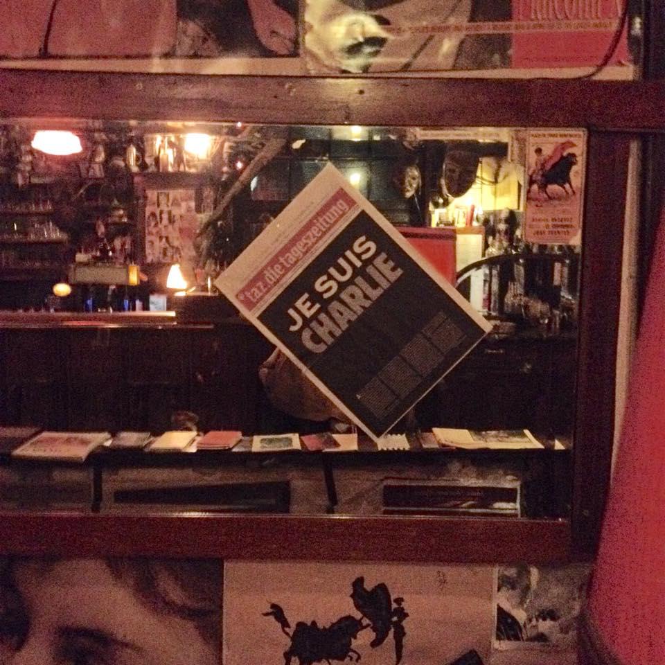 #JeSuisCharlie Auch im Modigliani gedenkt man den toten Cartoonisten…