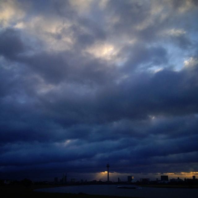 Einen windzerzausten Morgen auf'm Deich.