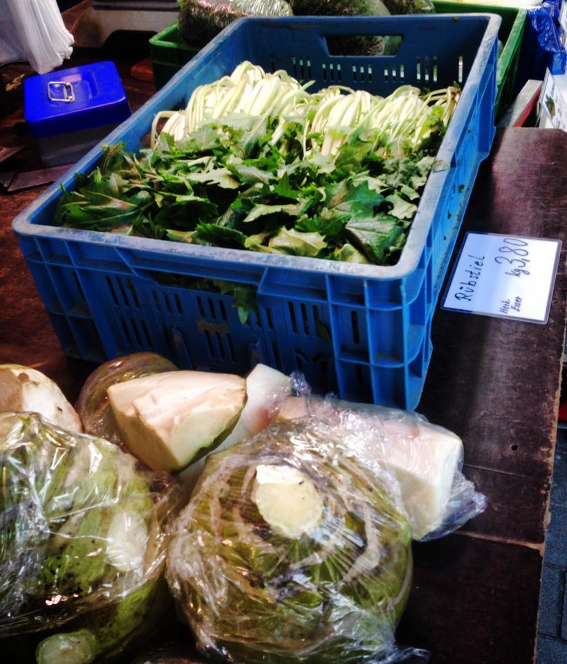 Rübstiel, Kartoffeln und RäucherTofu…