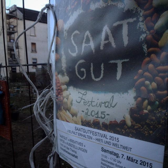 Freuen uns schon auf das 'SaatgutFestival' am 7. März in Düsseldorf :-)