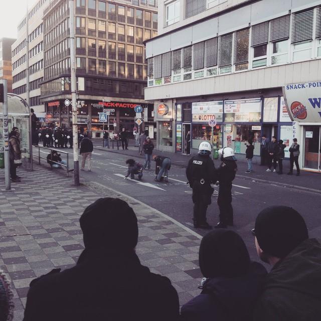 Wieder auf der Straße gegen Nazis.