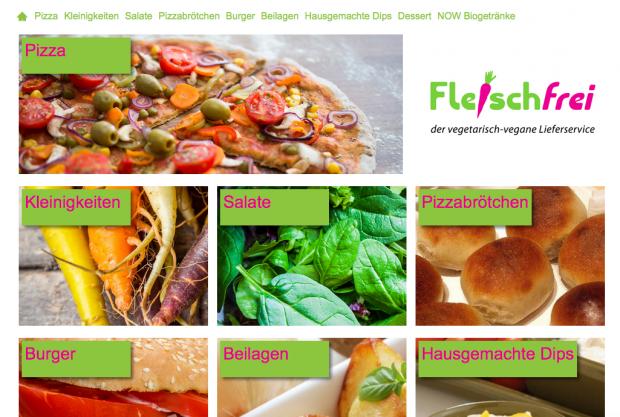 screenshot der webseite von Fleischfrei /Düsseldorf