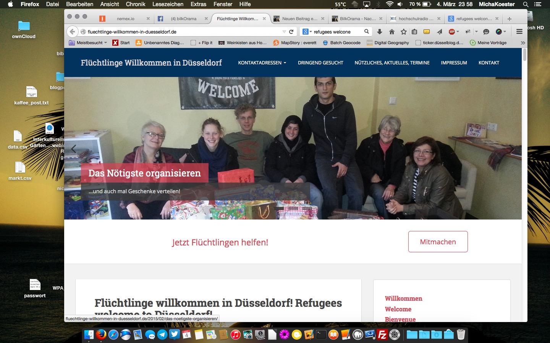 Refugees Welcome! Kein Mensch ist illegal!