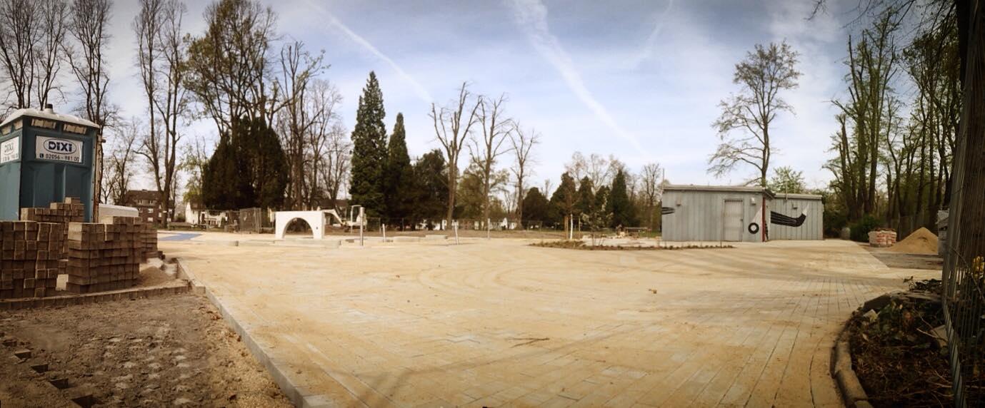 Baustelle im Park an der alten Sternwarte