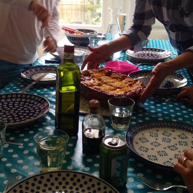 Vegetarische Lasagne zum Abend :-)