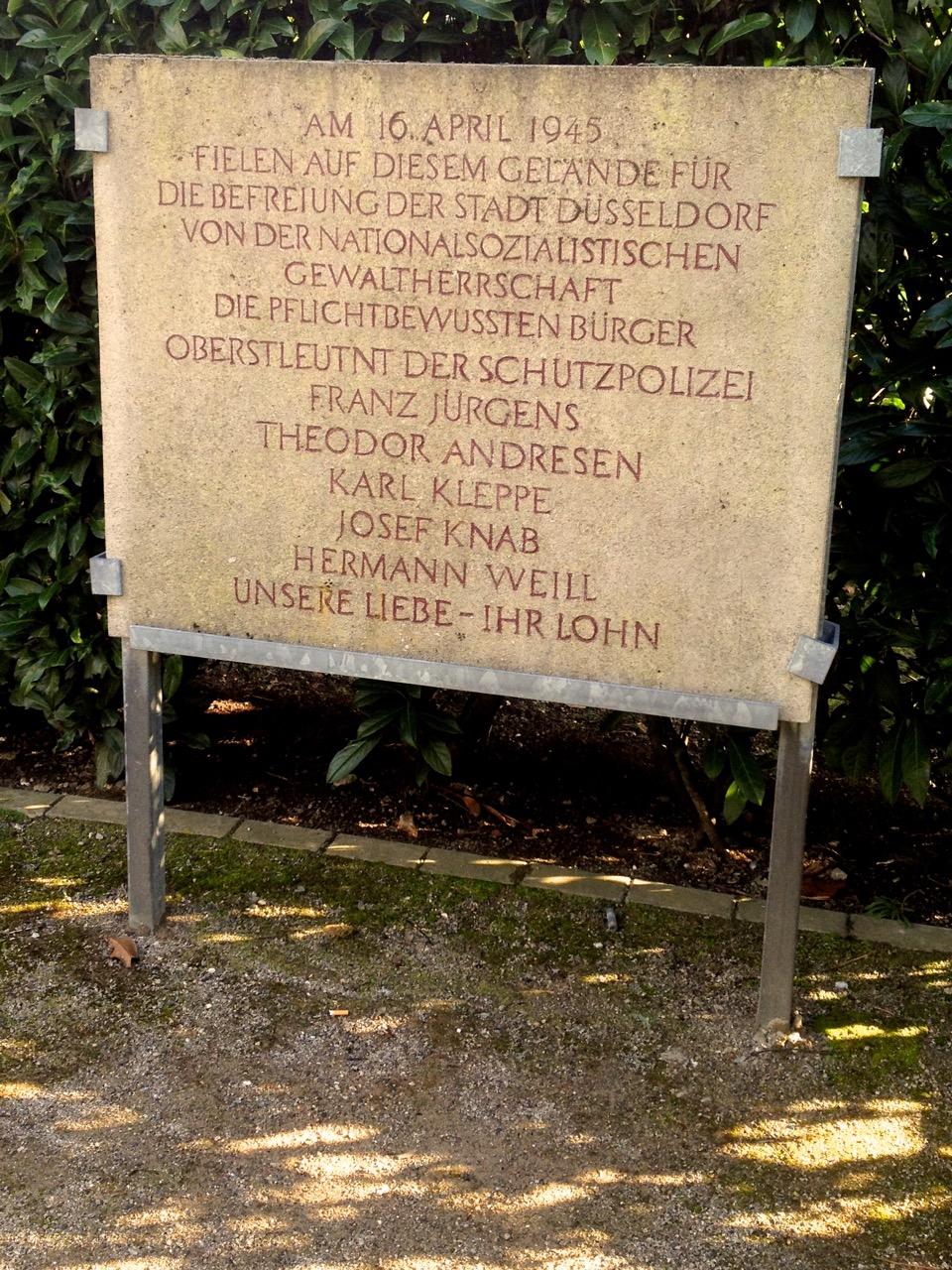 17. April 1945 – Tag der Befreiung in Düsseldorf
