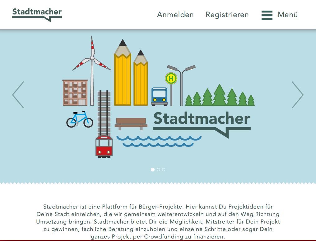 Stadtmacher, eine Plattform für Bürger-Projekte