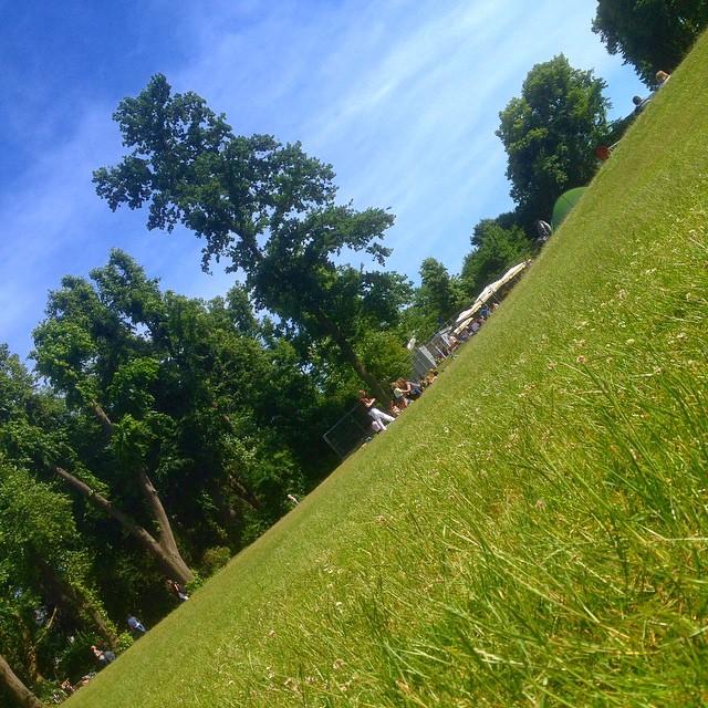 Ein leicht schräge Aussicht hilft mit beim chillen im Park. Wirklich ;-)