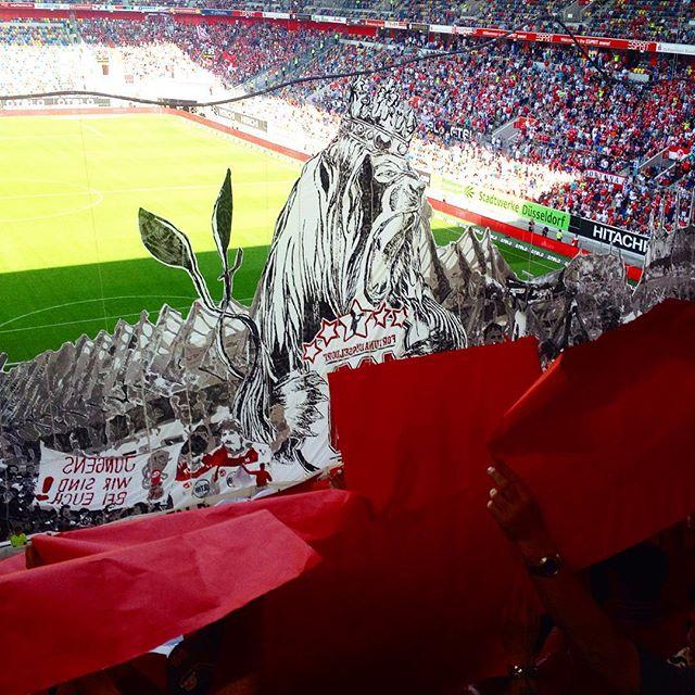 """Fortuna Fans haben mal wieder eine """"kleinere"""" Choreo gebaut :-) Respekt!!"""