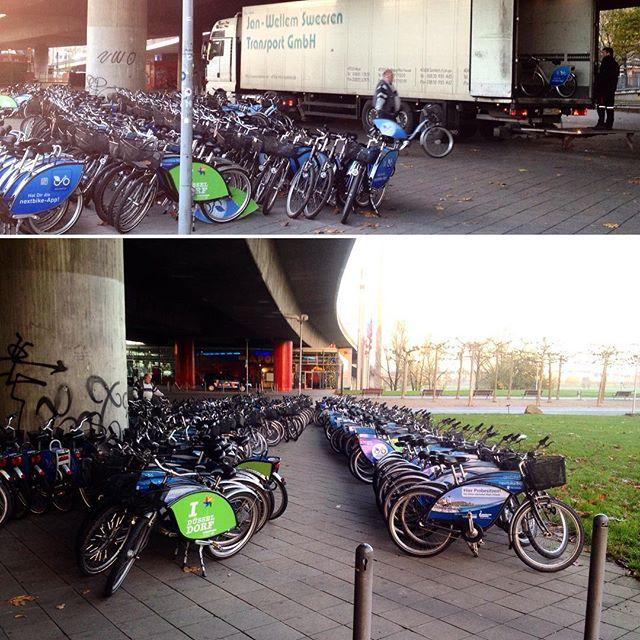 Großer Alm-Abtrieb bei den Mieträdern in der Stadt :-)