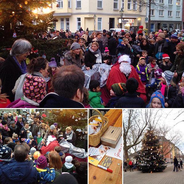 Ein Nikolaus, zwei Engel, drei Trompeter und rund 120 Kinder :-)