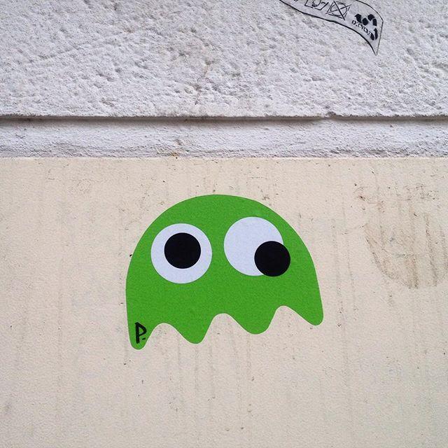 Die Pacman Geister sind immer noch unterwegs :-) #streetart