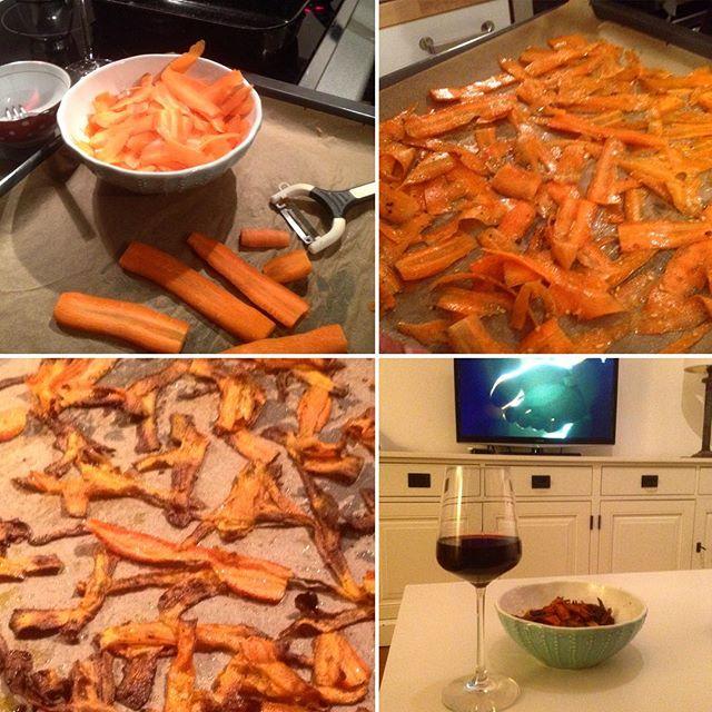 Wir schnitzen uns einfach mal KarottenChips :-)