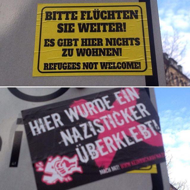 'Hier wurde ein Nazisticker überklebt!'