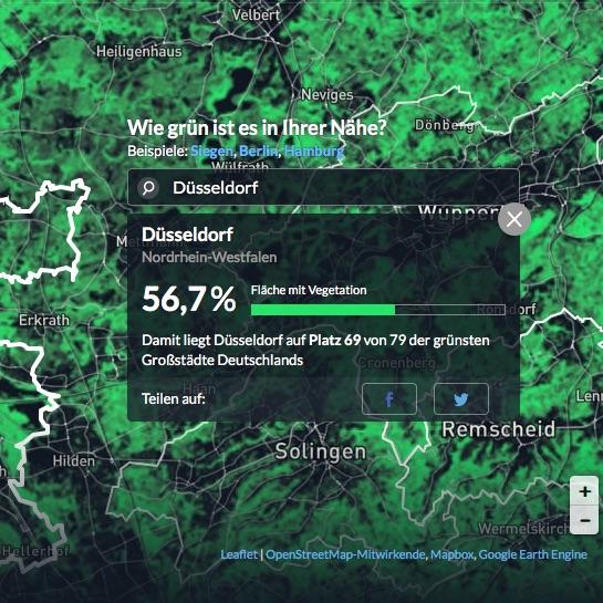 Düsseldorf auf Platz 69 von 79 der grünsten Großstädte Deutschlands…