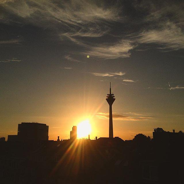 Ein laaaaaaaaanger Blick in die Abendsonne :-) #duesseldorf #bilk
