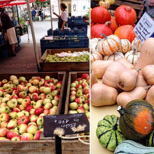 Wird langsam mal wieder Zeit die Herbst-Rezepte auszubuddeln... Mal wieder etwas mit mit Kürbis zaubern :-) Wer noch Ideen & Inspiration braucht - einmal über den Bauernmarkt laufen...