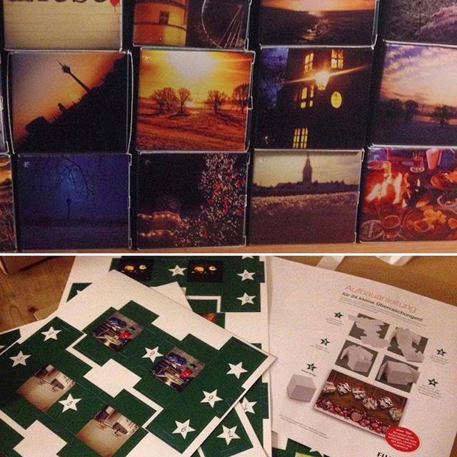 Ist zwar ein wenig früh, aber ich stecke & falte dann schon mal den Adventskalender zusammen :-) Ich mag einfach die 24 Pappboxen mit den Instagram Fotos der letzten Jahre...