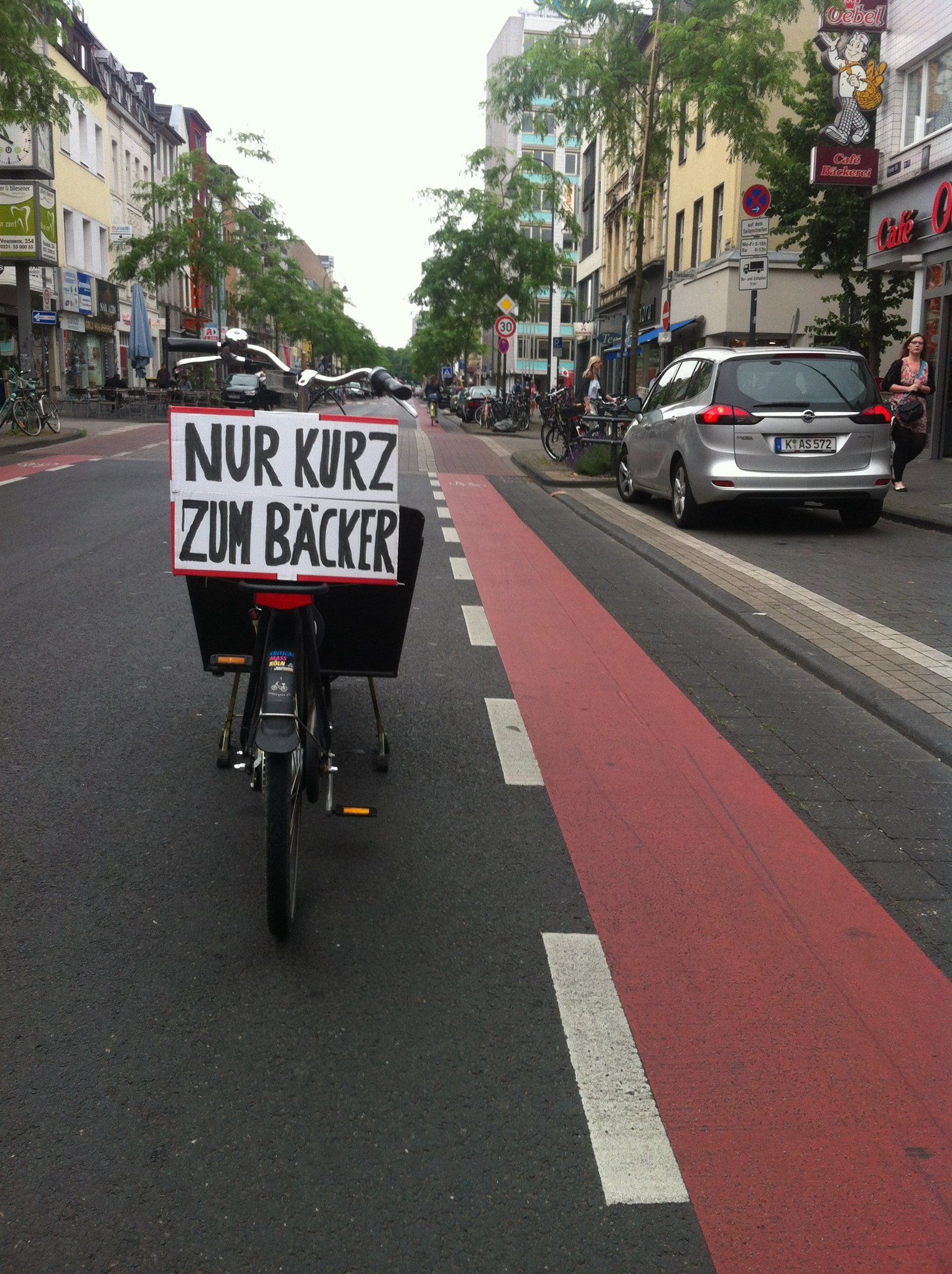 Parken und Halten auf dem Radweg?