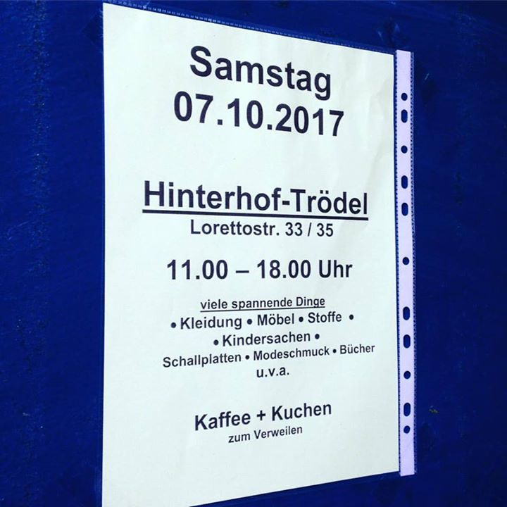 Hinterhof-Trödel auf der Lorettostraße