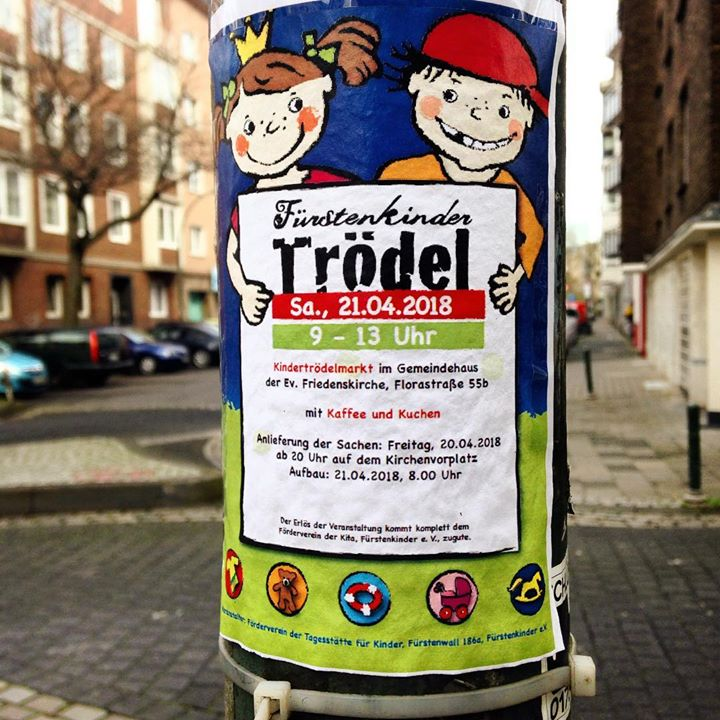 Kindertrödelmarkt der Fürstenkinder am 21. April 2018