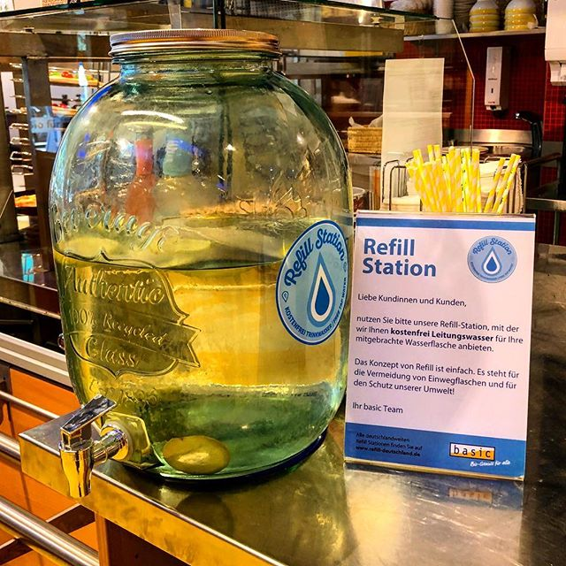 Kostenfrei Leitungswasser. Refill ist simpel und einfach.