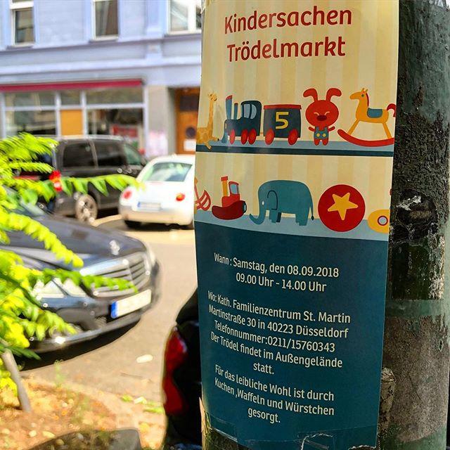 Lust auf einen Kindertrödelmarkt? Am Samstag (8.9.2018) wird d einen im katholischen Familienzentrum auf der Martinstraße geben. In der Zeit von 9 bis 14 Uhr könnt ihr Kinderkleidung, Spielsachen, Bücher usw kaufen :-)