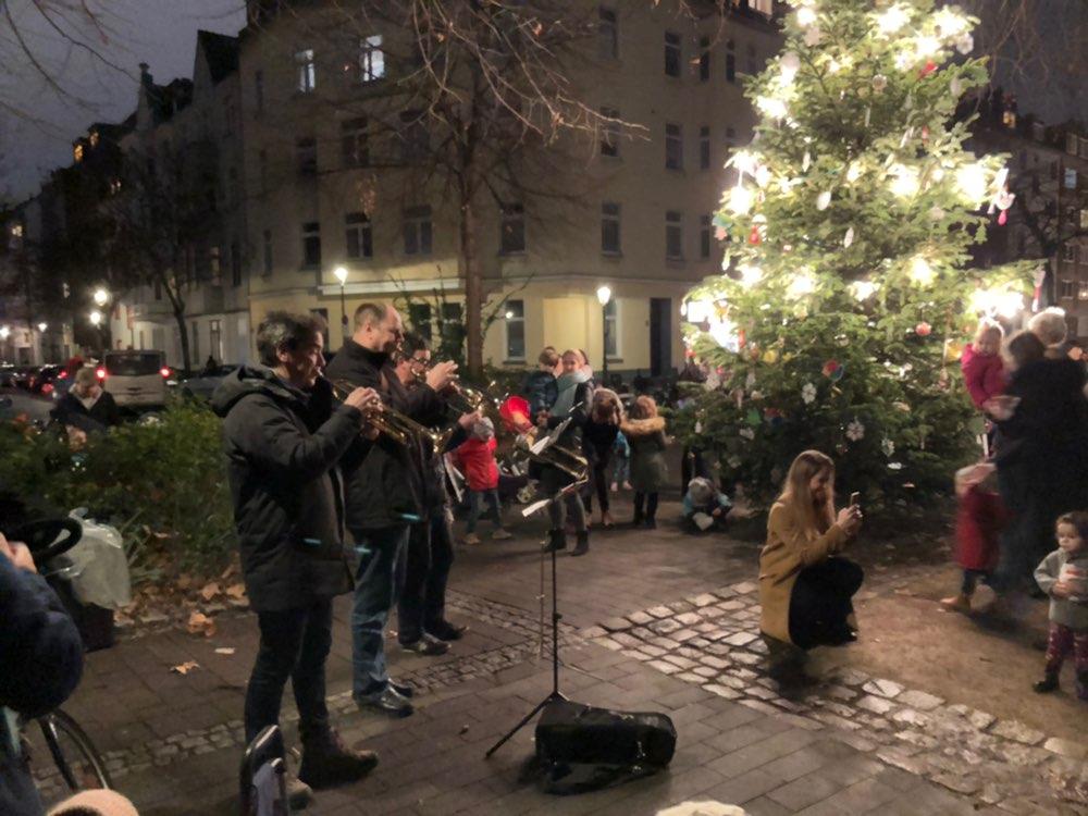 Nikolaus auf Besuch in Unterbilk