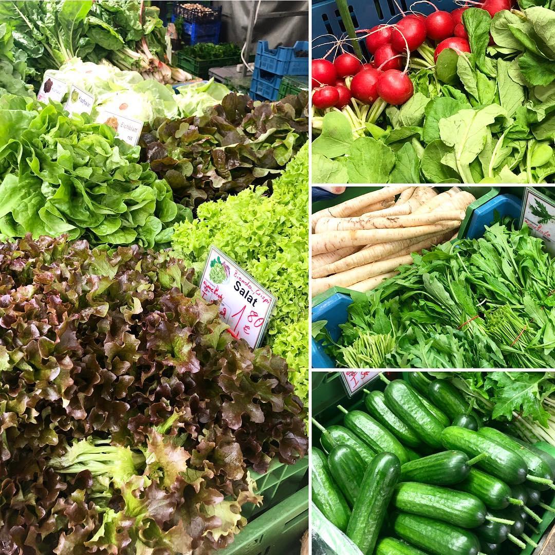 Der Frühling im Speiseplan zeichnet sich immer deutlicher ab :-) Es gibt endlich wieder frische Radieschen, Salat und Gurken bei uns auf dem