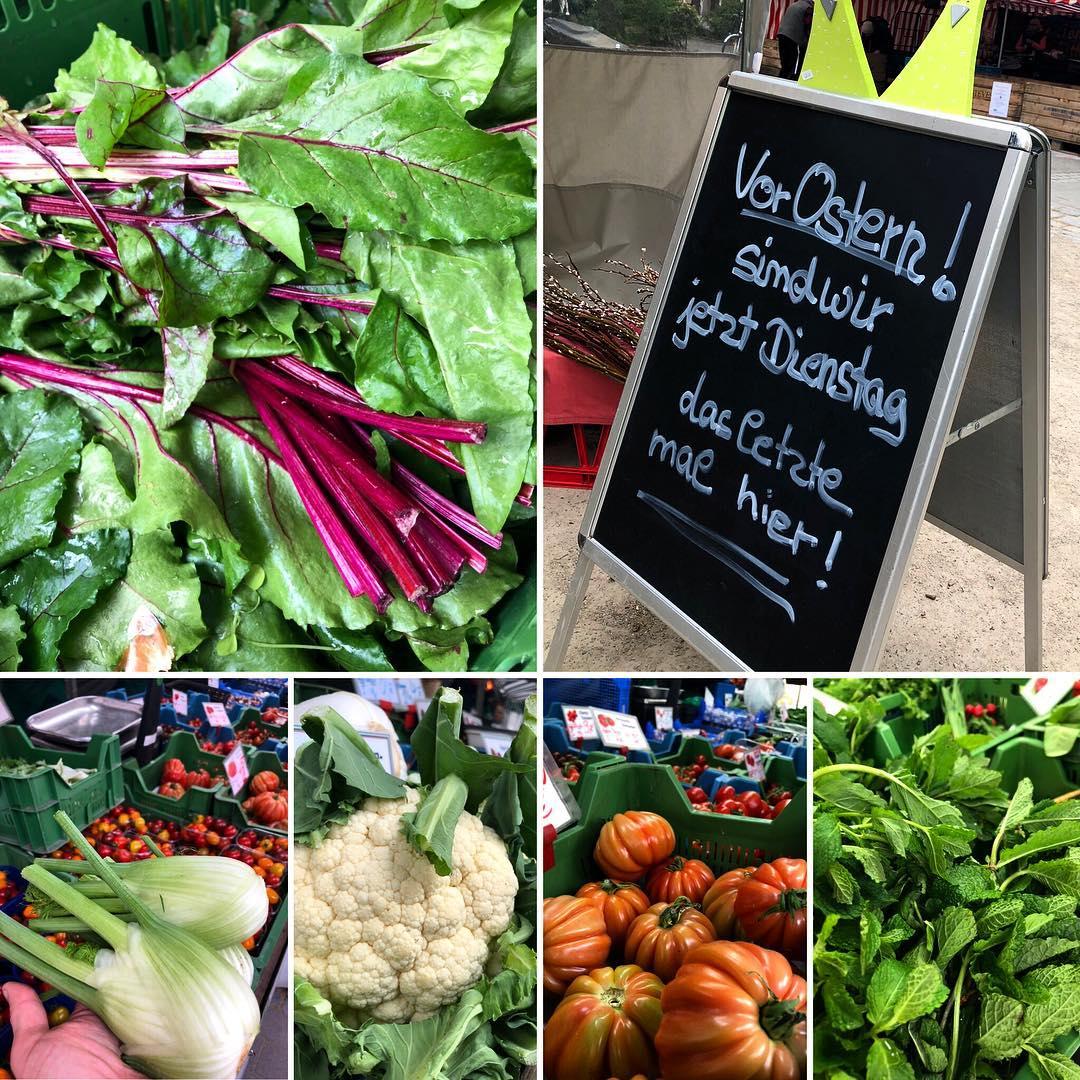Die Auswahl wird deutlich größer & bunter :-) noch mehr Tomaten,aber auch wieder Fenchel :-) Kleiner Hinweis – kommende Woche ist nur am Dienstag der Bauernmarkt auf'm Friedensplätzchen …